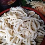 25805081 - うどんもスープもついてくる天ぷら2種も美味しくて、手作りの柚子胡椒を入れると絶品でした!また行こうと思います(○'ω'○)