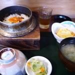 新むら - 鮭いくら釜飯 700円。