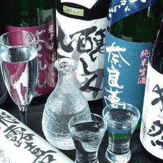 厳選された日本酒が50種類以上!