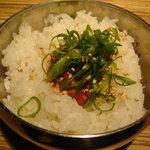 麺彩 藤 - チャンジャ御飯