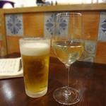 ピッツェリア・バルケッタ - ハートランドと白のグラスで乾杯♪