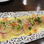 ピッツェリア・バルケッタ - 真鯛のカルパッチョ ★3