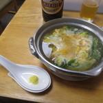 鳥喜多 - かしわ鍋 420円
