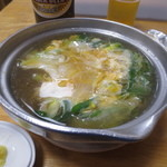 鳥喜多 - アルミの鍋に入って出てきます(^^)