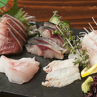 魚は神奈川、五島、愛媛、串本産直!!