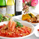 レストラン プリミエール - 蟹のパスタ