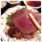 庵珠 - 萩膳  ステーキ