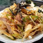 ラーメン屋 麺一 - 『つまみチャーシュー(小)』350円。