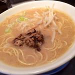 喜九成食堂 - ランチセットのラーメン(とんこつ醤油)
