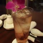 中国料理・琉球中華 琉華邦 - 中国果実酒のブルーベリーにしました(800円)。