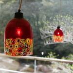 妙見石原荘 - どの個室も照明は違っているが、ここは薩摩切子の灯り。
