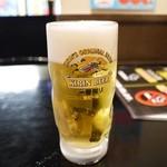 焼鳥 日高 - 生ビール 300円。