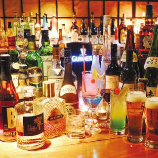 カクテル、ウイスキーやノンアルコールも豊富!