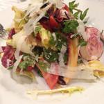 25841735 - フルーツトマト・野菜・パルミジャーノチーズのサラダ