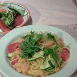 """狛江・三鷹の野菜を使った、本日の""""スパゲッティー・ペペロンチーノ"""""""