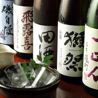 日替わりも含めて常時30種以上の日本酒・焼酎ラインナップ!