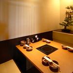しゃぶしゃぶ温野菜 - 4名様まで用の半個室です。(他に6名様まで用も2卓ございます)