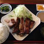 ジャムネシア 食堂 - 「ジャークチキン」!!!!!!! 800円なり!ライス大盛り無料という、腹ペコには嬉しいサービス!!