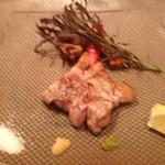 Shunjuuyurari - 本日の炭火焼き 農園野菜添え