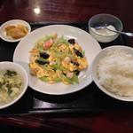 25850953 - 小柱とセロリの炒め定食(ランチ)