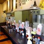 神戸ちぇりー亭 - 内観写真:店内(カウンターのみです)