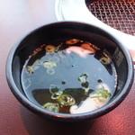焼肉のMr.青木 - わかめスープ