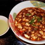 25861307 - マーボー丼とスープ(コーヒー付き)で500円
