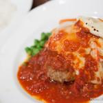 ミスターとフライパン - 料理写真:イタリアンハンバーグステーキ(ジャンボ)【2013年10月】