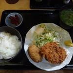 ありんこ - メンチ・コロッケ定食