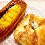 ブルクベーカリー - キャラメルナッツとスイートポテトデニッシュ☆ ココのデニッシュはどれも美味しい♪