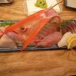 丸冨水産 神田店 - 尾長鯛お刺身盛り合わせ