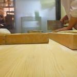 神田まつや - 2014,Mar 四代目が蕎麦を切ってます