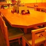 酒彩 羽々和 - 中央テーブル席