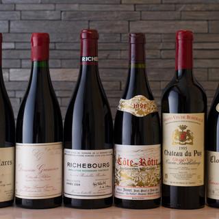 豊富なフランスワイン