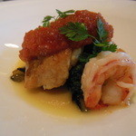 和楽 - メイン(魚):イトヨリのポアレトマトコンソメジュレとアンチョビバターソース