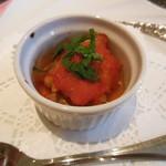 和楽 - 豚モツと春キャベツのトマトソース煮