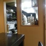 和楽 - 厨房のシェフの様子が見える 非常に楽しそうに料理を作っている姿が印象的