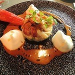 ル・プティ・ブドン - 料理写真:オマール海老のリゾット 濃厚なクーリ
