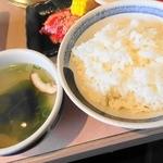 焼肉力 - ご飯とスープ