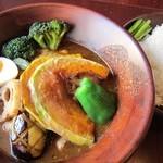 しんペー - チキン野菜スープカレーです