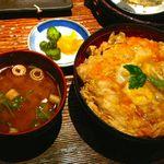 炙屋十兵衛 - 【究極の比内地鶏親子丼…1,300円】◎2014/3