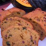 はちどり菓蔵 - 北海道産有機かぼちゃとあずきのパウンドケーキです。