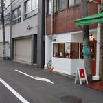 自家焙煎コーヒー くまきち - 視点:裏通り沿い東向き(西に谷町六丁目駅)