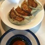 ラーメン角萬 - 定食の餃子