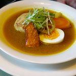 こうひいはうす - ハンバーグスープカレー。こうひいはうす(札幌市)食彩賓館撮影