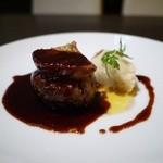 Banquet Restaurant FUKUROU - ロッシーニ風ハンブルグステーキ。