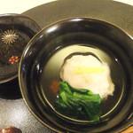 25897338 - 寒鱈はす蒸し、小松菜 生姜 柚子