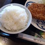 とんかつ まい泉 - + ご飯大盛り 100円