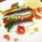 平野弥ワイン食堂 - 料理写真:鰯の酢漬けと焼き茄子とパプリカのマリネ