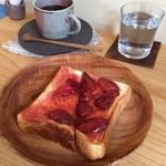 賀茂窯 - 自家製ジャムトーストと賀茂窯ブレンド